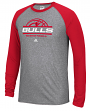 "Chicago Bulls Adidas NBA ""Court King"" Men's Climalite L/S T-Shirt"