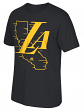 "Los Angeles Lakers Adidas NBA ""Legacy Fade"" Men's Short Sleeve T-Shirt"
