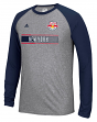 "New York Red Bulls Adidas MLS ""Midfield"" Men's Climalite L/S T-Shirt"
