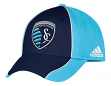 "Sporting Kansas City Adidas MLS ""Free Kick"" Structured Flex Performance Hat"