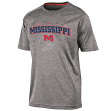 "Mississippi Ole Miss Rebels NCAA Champion ""Impact"" Performance S/S Shirt - Gray"