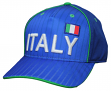 """Team Italy World Cup Soccer Federation """"Printed"""" Structured Adjustable Hat"""