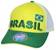 "Team Brazil World Cup Soccer Federation ""Jersey Hook"" Structured Mesh Back Hat"