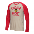 "Chicago Blackhawks CCM NHL ""Winner"" Tri-Blend Men's Long Sleeve White Crew Shirt"
