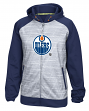 Edmonton Oilers Reebok NHL 2016 Center Ice Speedwick Full Zip Sweatshirt