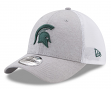 """Michigan State Spartans New Era NCAA 39THIRTY """"Tech Sweep"""" Gray Flex Fit Hat"""