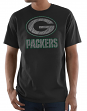 "Green Bay Packers Majestic NFL ""Primetime"" Men's Short Sleeve Black T-Shirt"