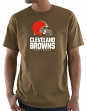 "Cleveland Browns Majestic NFL ""Critical Victory 3"" Men's S/S T-Shirt - Brown"