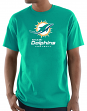 """Miami Dolphins Majestic NFL """"Critical Victory 3"""" Men's S/S T-Shirt - Teal"""