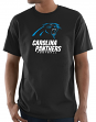 "Carolina Panthers Majestic NFL ""Critical Victory 3"" Men's S/S T-Shirt - Black"