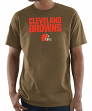 "Cleveland Browns Majestic NFL ""Pick Six"" Men's Short Sleeve T-Shirt - Brown"
