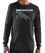"Denver Broncos Majestic NFL ""Elite Reflective"" Men's L/S Black T-Shirt"