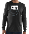 "Indianapolis Colts Majestic NFL ""Elite Reflective"" Men's L/S Black T-Shirt"