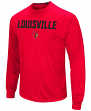 "Louisville Cardinals NCAA ""Power Set"" Men's Long Sleeve Performance T-Shirt"