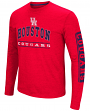 "Houston Cougars NCAA ""Sky Box"" Long Sleeve Dual Blend Men's T-Shirt"