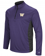 "Washington Huskies NCAA ""Audible"" 1/4 Zip Pullover Men's L/S Wind Shirt"