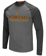"Arizona State Sun Devils NCAA ""Ultra"" Men's Long Sleeve Charcoal Raglan T-Shirt"