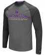 "Washington Huskies NCAA ""Ultra"" Men's Long Sleeve Charcoal Raglan T-Shirt"