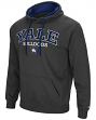 "Yale Bulldogs NCAA ""End Zone"" Pullover Hooded Men's Sweatshirt - Charcoal"
