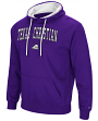"TCU Horned Frogs NCAA ""End Zone"" Pullover Hooded Men's Sweatshirt - Purple"