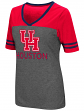 Houston Cougars Women's NCAA McTwist Dual Blend V-neck T-Shirt