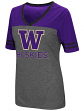 "Washington Huskies Women's NCAA ""McTwist"" Dual Blend V-neck T-Shirt"