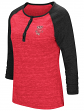 "Wisconsin Badgers NCAA Women's ""Slopestyle"" 3/4 Sleeve Henley Shirt"