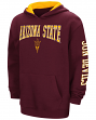 "Arizona State Sun Devils ""End Zone"" Pullover Hooded Youth Sweatshirt - Maroon"