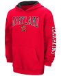 "Maryland Terrapins NCAA ""End Zone"" Pullover Hooded Youth Sweatshirt - Red"