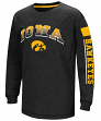 "Iowa Hawkeyes NCAA ""Grandstand"" Long Sleeve Dual Blend Youth T-Shirt"