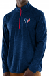 "Houston Texans Majestic NFL ""Play to Win"" 1/2 Zip Mock Neck Pullover Shirt"