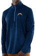 "Los Angeles Chargers Majestic NFL ""Play to Win"" 1/2 Zip Mock Neck Pullover Shirt"