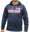 New England Patriots Majestic NFL Game Elite 2 Men's Full Zip Hooded Sweatshirt