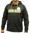 "Pittsburgh Steelers Majestic NFL ""Game Elite 2"" Men's Full Zip Hooded Sweatshirt"