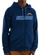 Los Angeles Chargers Majestic NFL Game Elite 2 Men's Full Zip Hooded Sweatshirt