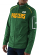 "Green Bay Packers Majestic NFL ""Teamwork"" Men's Full Zip Mock Neck Sweatshirt"