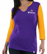 "Minnesota Vikings Women's Majestic NFL ""Game Legend"" 3/4 Sleeve V-Notch Shirt"