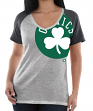 "Boston Celtics Women's Majestic NBA ""Stylin"" V-neck Short Sleeve Tee"