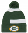 "Green Bay Packers New Era NFL ""Logo Whiz 3"" Cuffed Knit Hat with Pom"