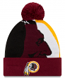 "Washington Redskins New Era NFL ""Logo Whiz 3"" Cuffed Knit Hat with Pom"