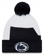 "Penn State Nittany Lions New Era NCAA ""Logo Whiz 3"" Cuffed Knit Hat with Pom"