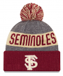 "Florida State Seminoles New Era NCAA ""Sport Knit"" Cuffed Hat with Pom"