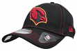 "Arizona Cardinals New Era NFL 39THIRTY ""Shock Stitch Neo"" Black Flex Fit Hat"