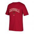 Louisville Cardinals Adidas NCAA Pastime Arch Men's Premium Short Sleeve T-Shirt