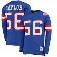 """Lawrence Taylor New York Giants Mitchell & Ness NFL Men's """"Go Long""""  L/S Shirt"""