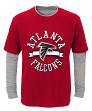 """Atlanta Falcons Youth NFL """"Definitive"""" L/S Faux Layer Thermal Shirt"""