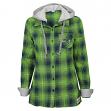 "Seattle Seahawks Juniors NFL ""Dream Plaid"" Hooded Long Sleeve Flannel Shirt"