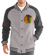 "Chicago Blackhawks G-III NHL ""The Ace"" Men's Premium Sweater Varsity Jacket"