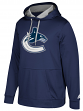 "Vancouver Canucks Adidas NHL Men's ""Checking"" Pullover Hooded Sweatshirt"