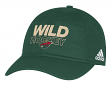 Minnesota Wild Adidas NHL Authentic Slouch Adjustable Hat